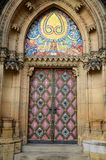 Doors of Vysehrad, Prague. Vysehrad, Prague, colorful doors of the chapel, czech republic royalty free stock image