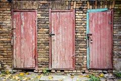 Doors in a wall Stock Photos