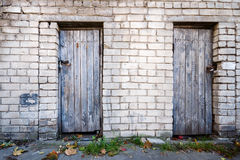 Doors in a wall Stock Images
