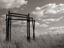 Doors into waste land. Gate into waste land Royalty Free Stock Photos