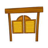 Doors in western saloon icon, cartoon style Royalty Free Stock Photography