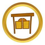 Doors in western saloon vector icon, cartoon style Royalty Free Stock Photography