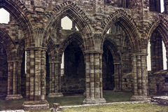 Doors of Whitby Abbey Stock Images