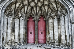 Doors of Winchester Cathedral. The doors on the Winchester Cathedral, England. (HDR Stock Photo
