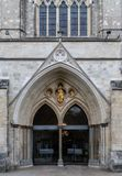 The Doors of Chichester Cathedral. The Doors and window of Chichester Cathedral stock photography