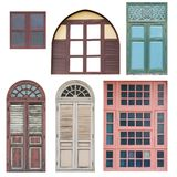 Doors and window collection. Royalty Free Stock Images