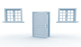 Doors and windows Royalty Free Stock Images
