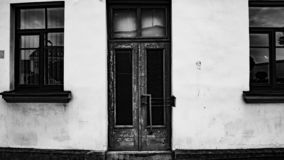 Doors and windows in the city stock images