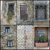 Doors windows collage Stock Images