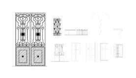 Doors and Windows Detail Drawing Stock Photography