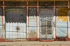 Doors and windows. Picturesque elements of traditional architecture. Stock Photography