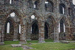 Doors and windows of Whitby Abbey Stock Image