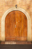 Doors Wood Arched Stock Photo