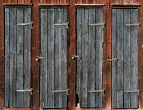 Doors on wooden shed Royalty Free Stock Image