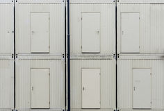 Doors of work site huts Stock Photography