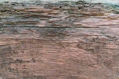 Doorstaan bruin hout Stock Afbeelding