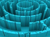Doorstaan en geroest labyrint royalty-vrije illustratie
