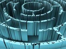 Doorstaan en geroest labyrint stock illustratie