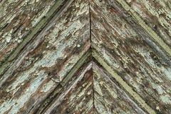 Doorstaan hout met patina stock afbeeldingen