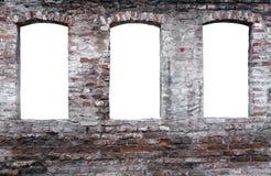 Doorstane bakstenen muur Stock Foto