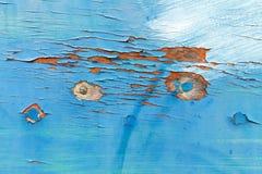 Doorstane blauwe bootschil Stock Afbeeldingen