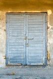 Doorstane Blauwe Deur Royalty-vrije Stock Foto