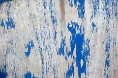 Doorstane blauwe geschilderde houten achtergrond (textuur) Stock Foto's