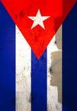 Doorstane Cubaanse vlag Royalty-vrije Stock Afbeelding