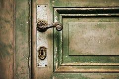 Doorstane houten deur Royalty-vrije Stock Afbeelding