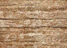 Doorstane houten korreltextuur. Stock Afbeelding