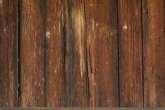 Doorstane houten muurachtergrond Stock Foto's