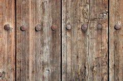 Doorstane houten omheiningstextuur Stock Afbeelding