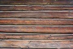 Doorstane houten planken, Noorwegen Stock Afbeeldingen