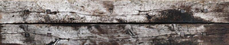 Doorstane houten plankentextuur Royalty-vrije Stock Afbeelding