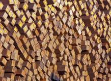 Doorstane houten spoorwegdwarsbalken Royalty-vrije Stock Fotografie