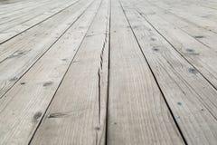 Doorstane houten textuur van dek stock foto's