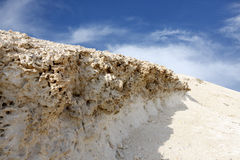 Doorstane kalksteenrots, vallei Hunanaiya Stock Afbeelding