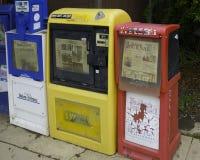 Doorstane Nieuwstribunes op hoofdstraat van Julian California stock afbeeldingen