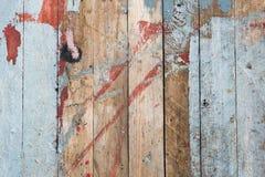 Doorstane oude houten geschilderde dektextuur stock foto
