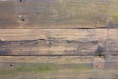 Doorstane oude planken van hout Royalty-vrije Stock Afbeelding