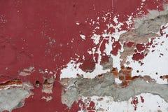 Doorstane Rode Muur Royalty-vrije Stock Foto's