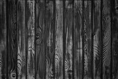 Doorstane schuur houten achtergrond, Zwart-witte kleur Monochrom Stock Afbeeldingen