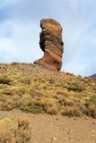 Doorstane vulkanische rots Royalty-vrije Stock Afbeelding
