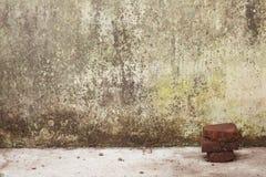Doorstane Witte Muur royalty-vrije stock foto