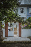 Doorstep of modern house Stock Photos