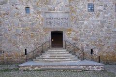 Doorsteps. Entrance to an old swedish castle, Glimmingehus Stock Image