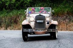 DOORWAAD een Open tweepersoonsauto 1931 Royalty-vrije Stock Afbeelding