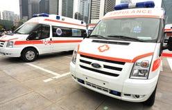 Doorwaad ziekenwagen royalty-vrije stock foto's