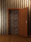 Doorway. Put by a bricklaying (3d rendering Royalty Free Stock Photography