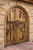 Doorway. Arched doorway set in a stone wall Stock Images